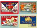 Australia Maximum Cards: APMX 528 Nostalgic Fruit Labels set of 4
